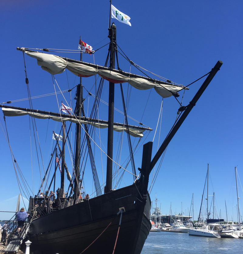 This full-scale replica of Christopher Columbus ship the Nina serves, with its partner, the Pinta, as a floating museum and classroom, as it proved to students and tourists on a recent weeklong stop in Charleston.