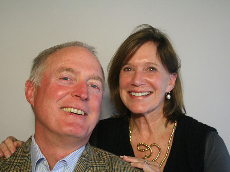 John Hagerty and his friend Susan Ravenel in Charleston, 2012.