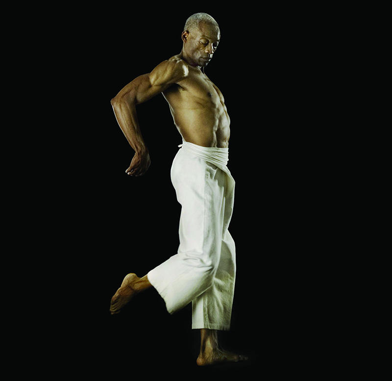 Dancer Bill T. Jones, one of the performers in David Michalek's moving-image installation Slow Dancing, which will be shown May 27 through June 8 nightly from 9:00pm to 11:00pm in Marion Square, Downtown Charleston.