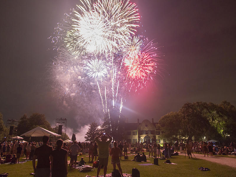 A spectacular fireworks display will conclude the Wells Fargo Festival Finale at Middleton Place on June 11, 2017.