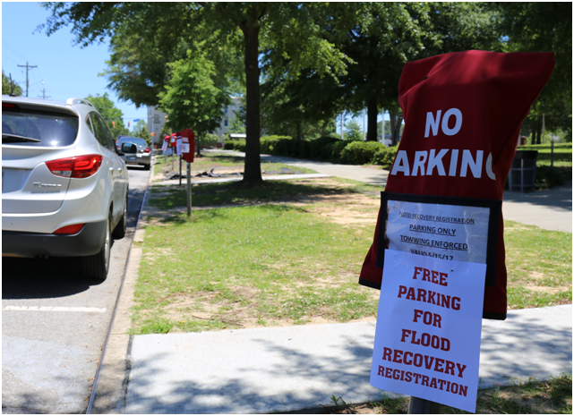 Parking Outside Richland County Administration Building May 15.