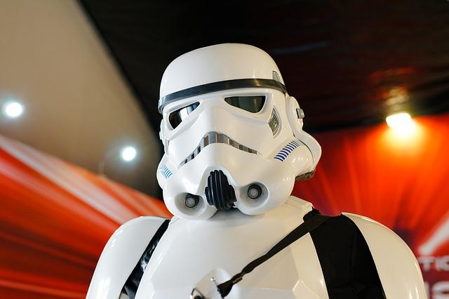 "Imperial storm troopers have become instantly recognizable ""bad guys"" in the wake of the phenomenal success of the Star Wars films."