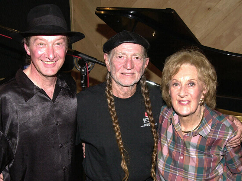 Jackie King, Willie Nelson, and Marian McPartland