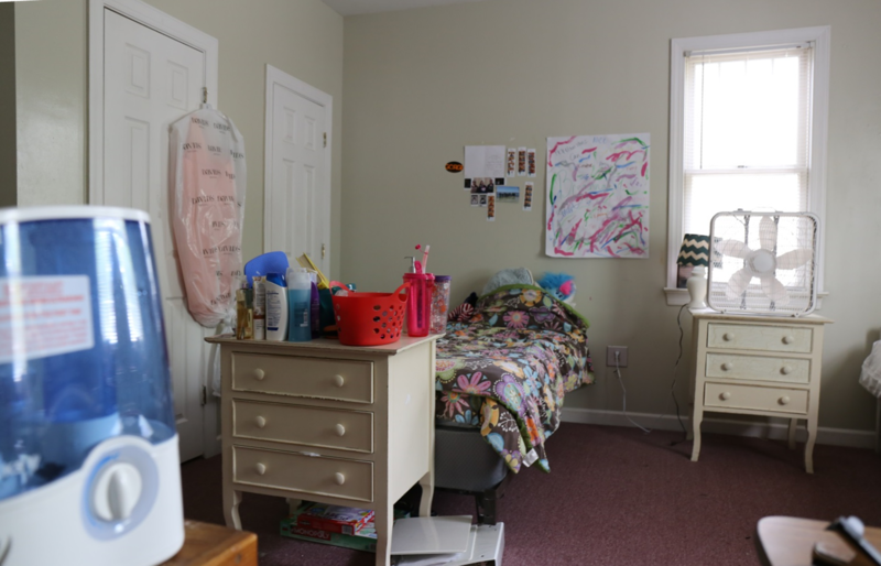Inside a girls bedroom suite at Palmetto Place Shelter