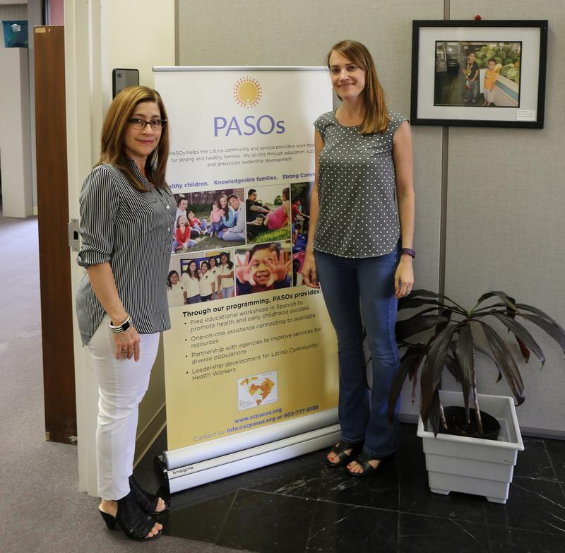 Ana Cossio and Julie Smithwick at PASOs' office in Columbia, SC
