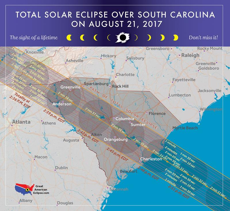 The path of the August 21, 2017, total solar eclipse.
