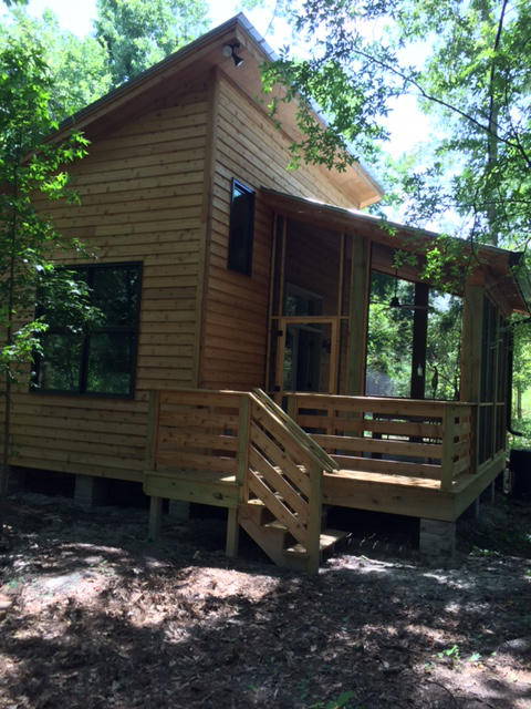 This tiny house may be only 400 square feet, but it contains a number of green, sustainable design features.