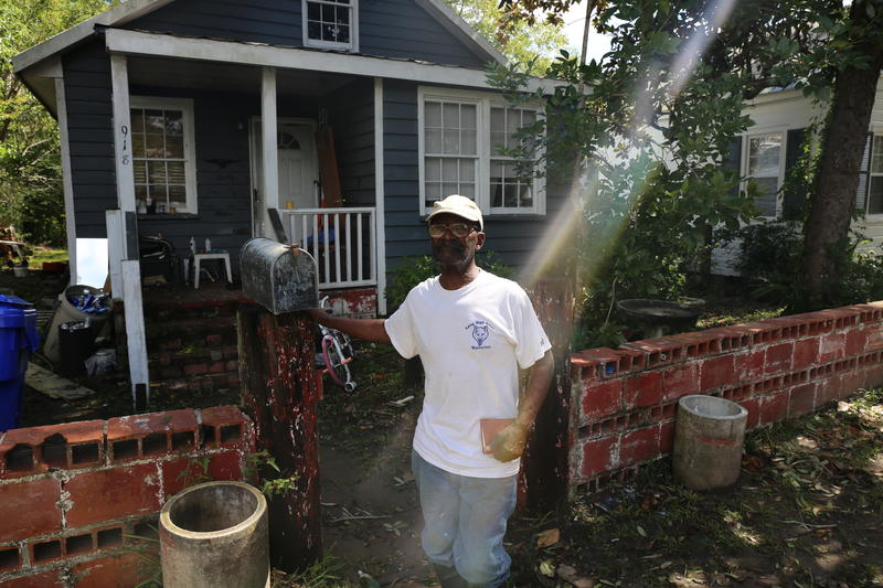 Once Irma hit, Joseph Jones of had second thoughts about his decision to ride out the storm at home.