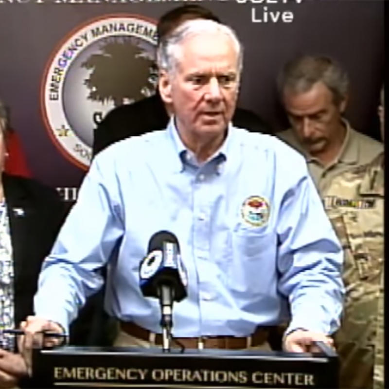 Governor Henry McMaster addressed the public in a press conference from South Carolina's Emergency Management Division at 2 p.m. on Saturday, September 9, 2017.