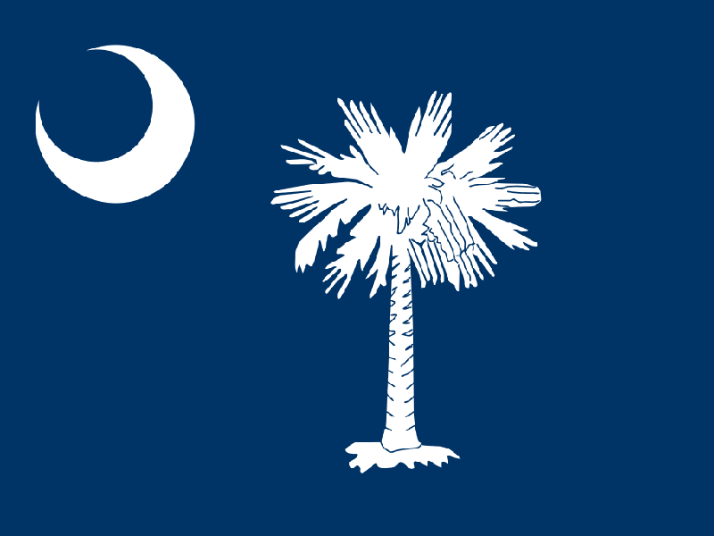 The exact nature of the crescent which adorns the corner of the South Carolina state flag has been the subject of debate for years.  Is it a moon, as many people say?  Two state historians say it sure looks like one, but according to the flag's creator, t