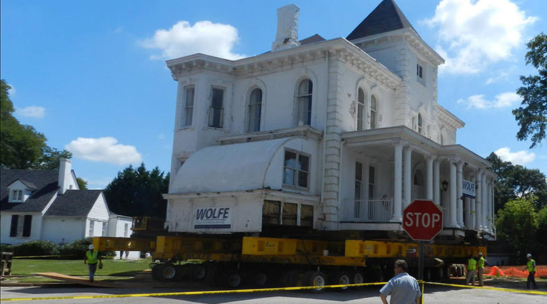 Sep 6, 2014: The 750-ton Wilkins house was moved a few blocks from Augusta Street to Mills Avenue in Greenville, SC.