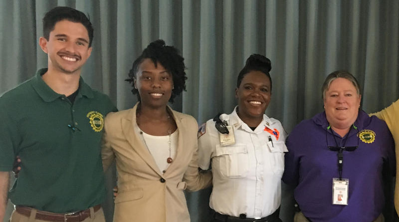 Instructors and presenters from Richland County's Flood Ready Seniors event. From left to right: Ben Marosites, Natasha Lemon, Winta Adams, and Sharon Long.