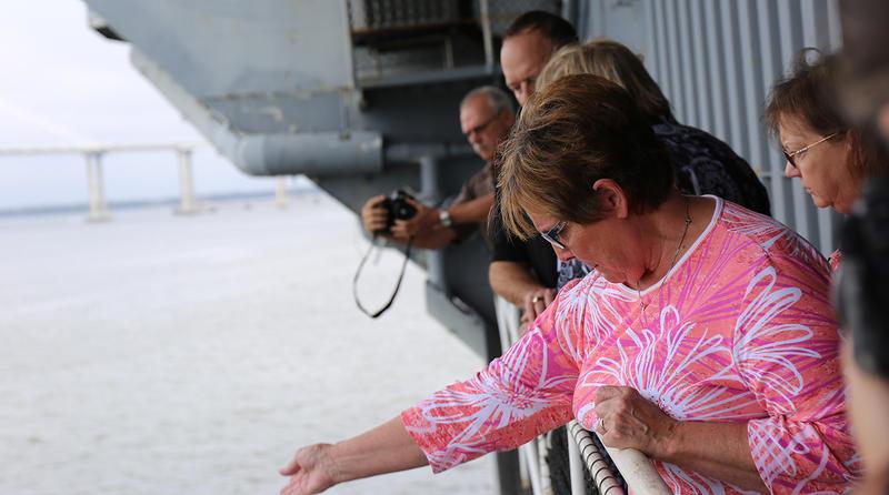 Families say goodbye to USS Yorktown veterans.