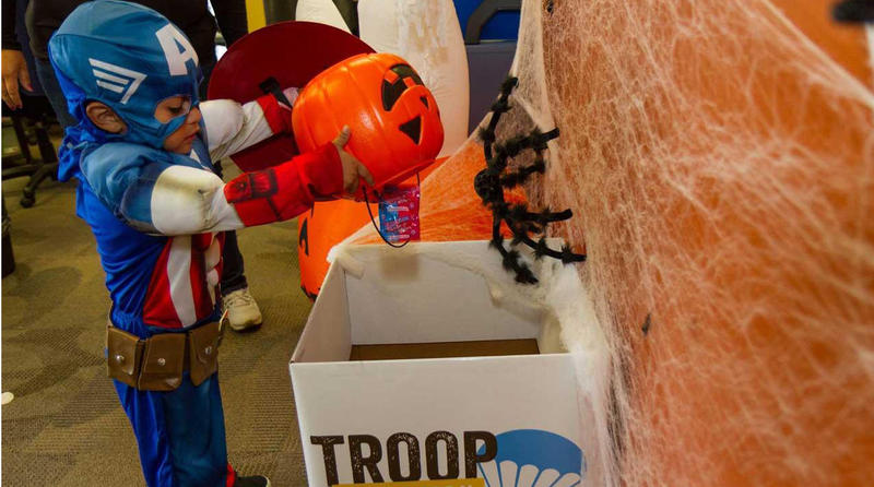 Children and families in South Carolina will have a chance to exchange Halloween candy for toys and send deployed U.S. troops a