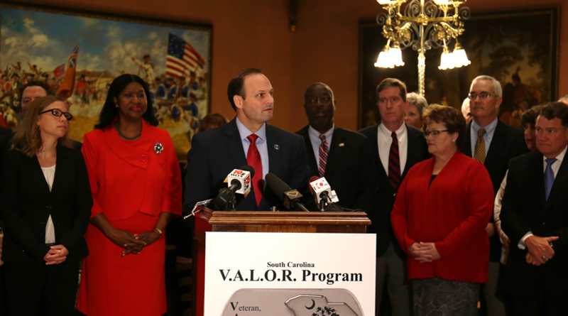 SC Attorney General Alan Wilson announced new program to help veterans, active duty military, and members of the reserves.