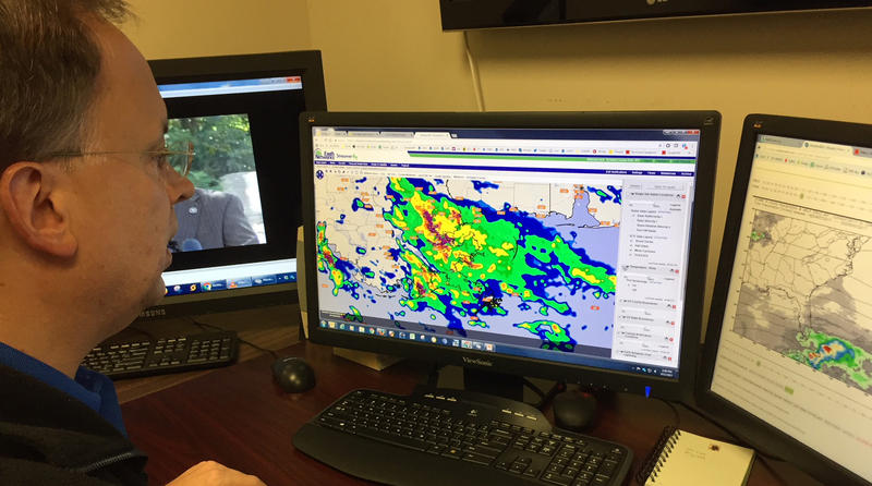 Richland County meteorologist Ken Aucoin checks the weather several times daily to give accurate reports to county emergency managers.