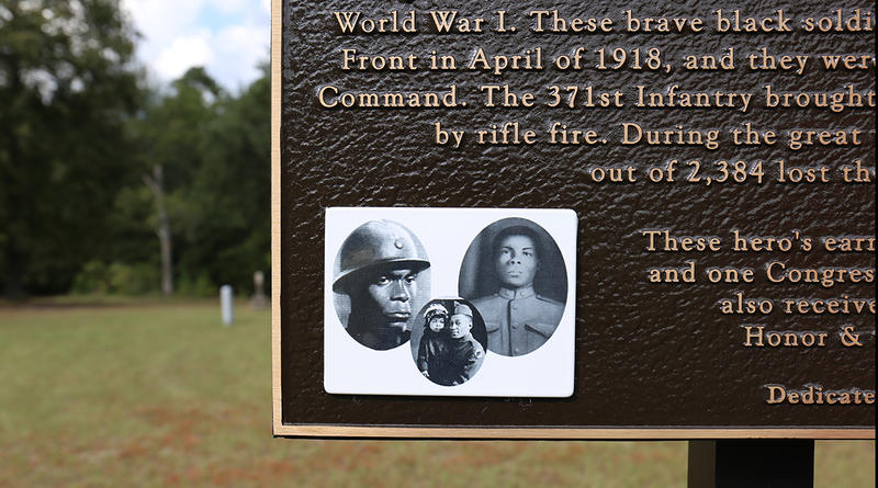 An historic marker honoring the 371st Infantry now stands at Childs Cemetery in Columbia.