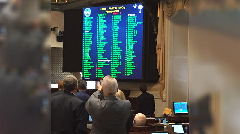 The S.C. House voted 119-1 this week to pass a bill that would temporarily halt customers of SCE&G from paying for the abandoned VC Summer Nuclear Project.