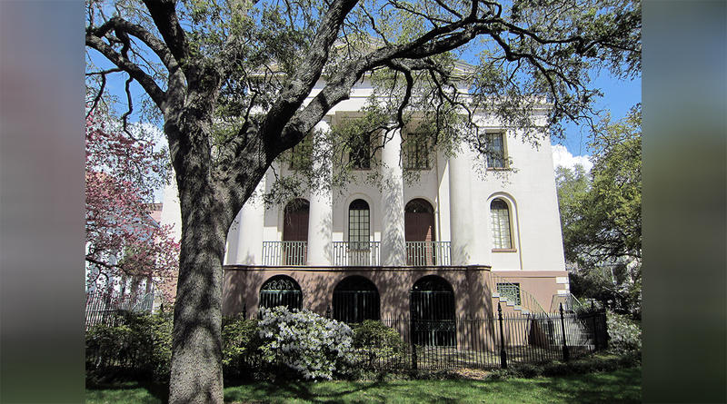 The Fireproof Building, designed by Robert Mills (1822-27), home of the South Carolina Historical Society, Charleston, SC.