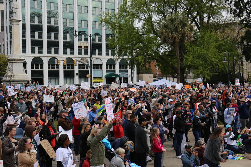 March for Our Lives Demonstrators in Columbia