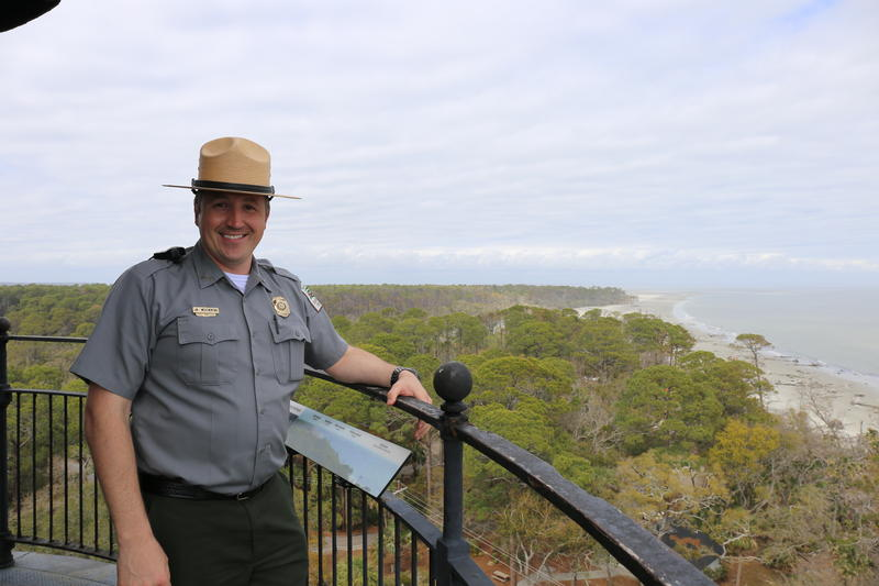 Hunting Island Park manager J.W. Weatherford