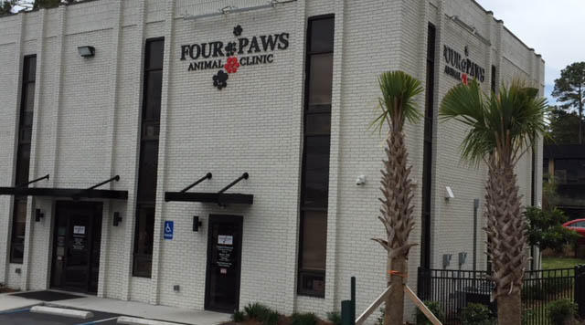 The new Four Paws Animal Clinic recently opened a few blocks from its former location after more than two years of operations in a temporary building while it recovered from the 2015 flood and sought the right place for its new home.