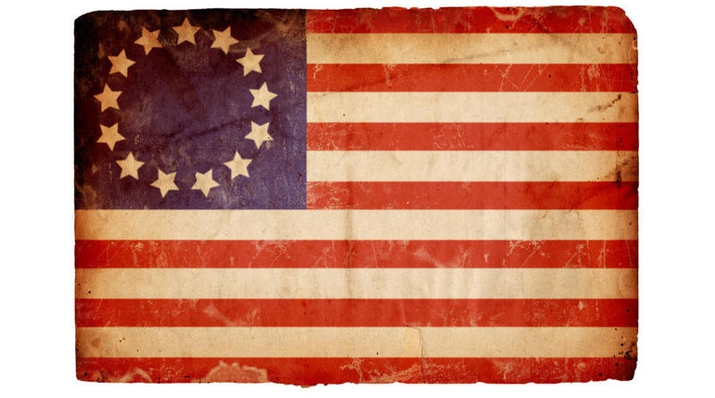 American Flag from the Revolutionary War