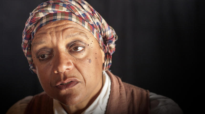 Becky Stone as Harriet Tubman.