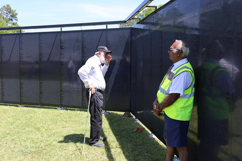 A replica of the Vietnam Memorial Wall is on display at Historic Camden