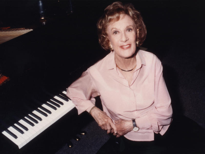 "Marian McPartland, host of ""Piano Jazz,"" in 2000."