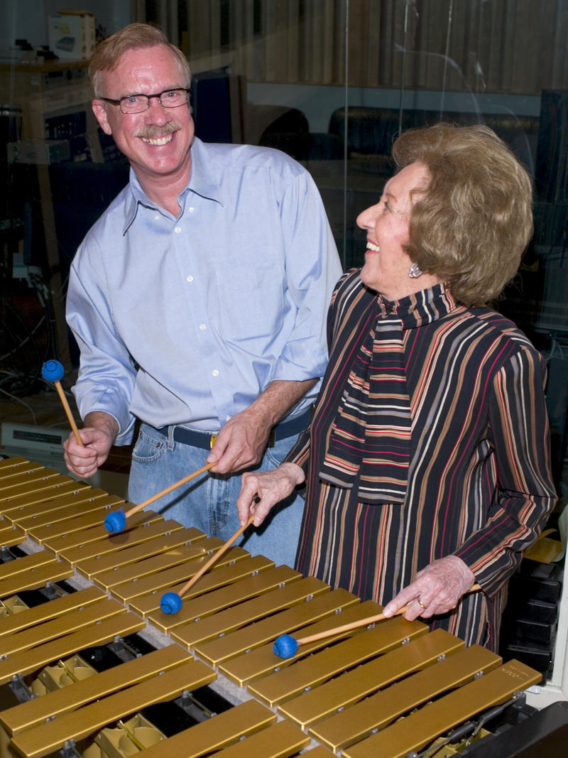 Marian McPartland with Gary Burton, Manhattan Beach Studios, New York City, 2004