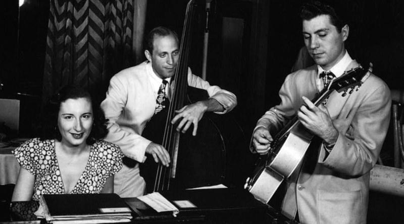 Barbara Carroll, Clyde Lombardi, and Chuck Wayne, Downbeat magazine, New York, N.Y., ca. Sept. 1947