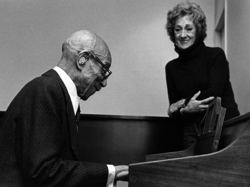 Marian McPartland with Eubie Blake, New York City, 1979