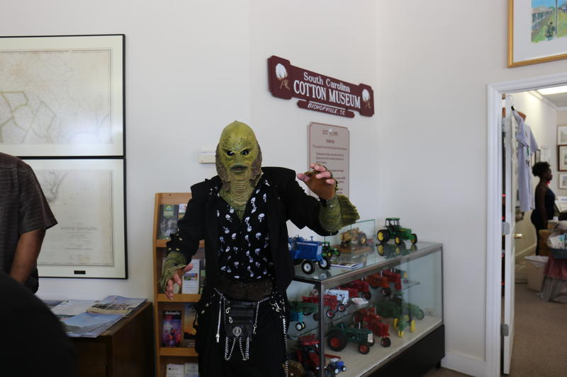 Some visitors came in costume, including the Kilted Creature, a bagpipist that dedicates his work to the Creature from the Black Lagoon.