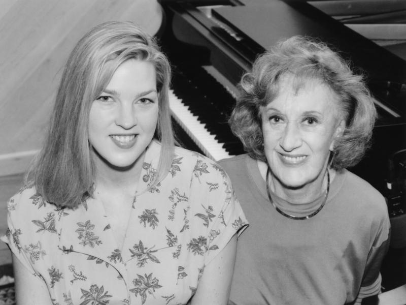 Marian McPartland with Diana Krall, New York City, 1994