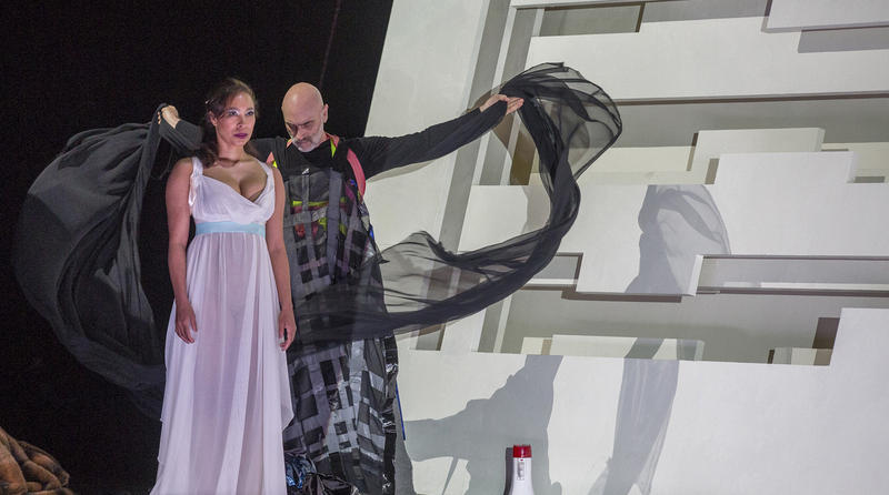 Marisol Montalvo and Walter Dundervill in the US premiere of Tree of Codes, with music and libretto by Liza Lim.