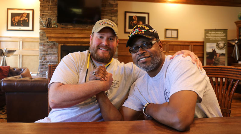 As co-facilitators at The Big Red Barn in Aiken, Dan Stover and Sheldon Bullock help provide services for veterans with Post Traumatic Stress Disorder.