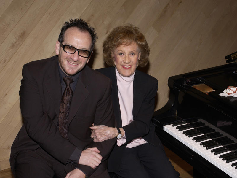 Marian McPartland with Elvis Costello, Manhattan Beach Studios, New York City, 2003