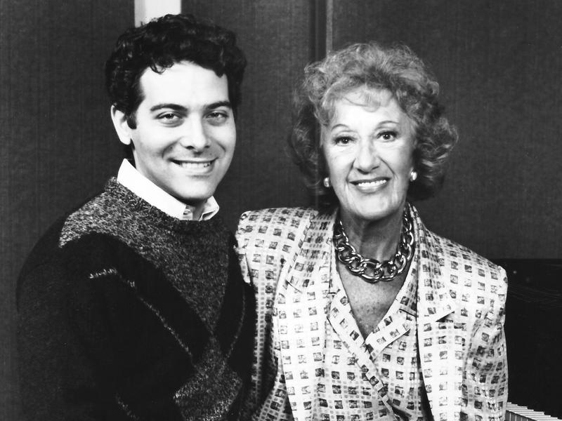 Marian McPartland with Michael Feinstein, 1988