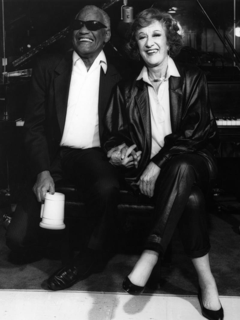 Marian McPartland with Ray Charles, Los Angeles, 1991