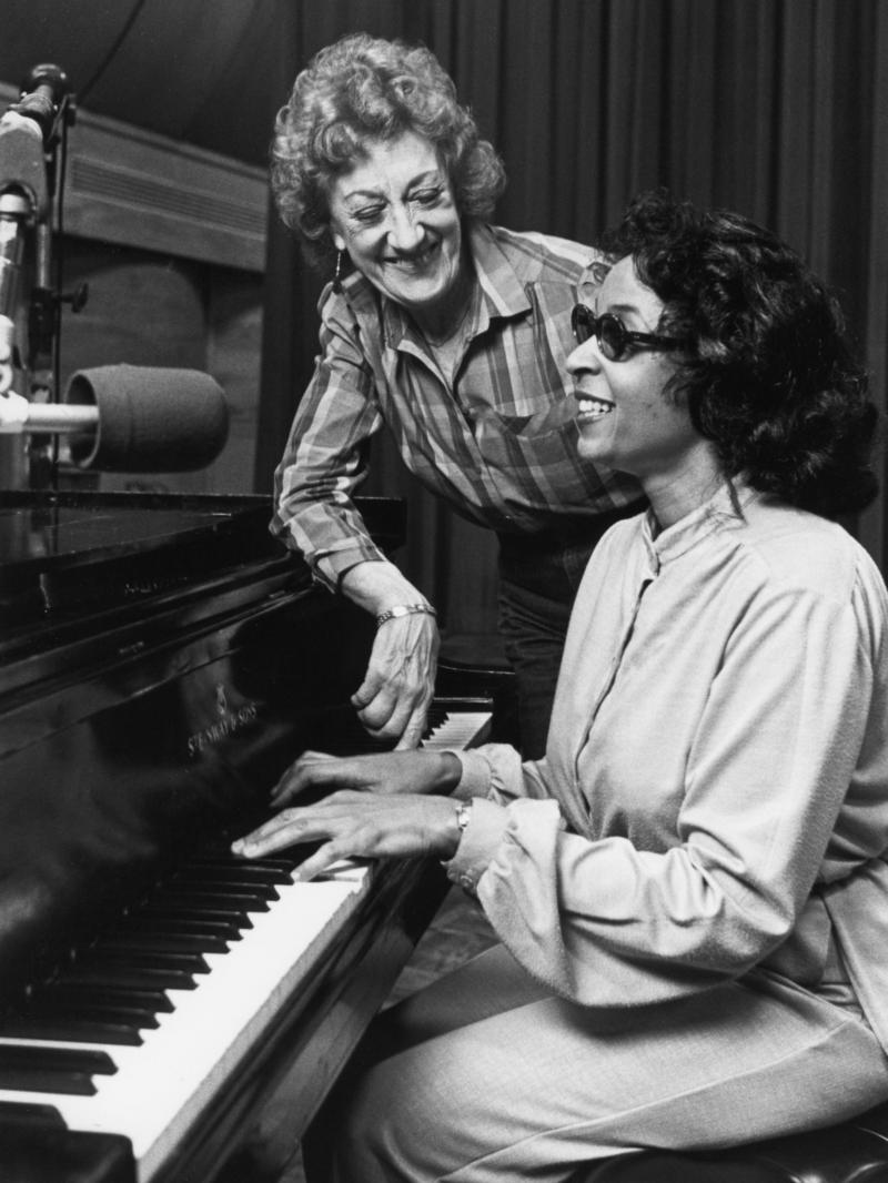 Marian McPartland with Valerie Capers, 1983