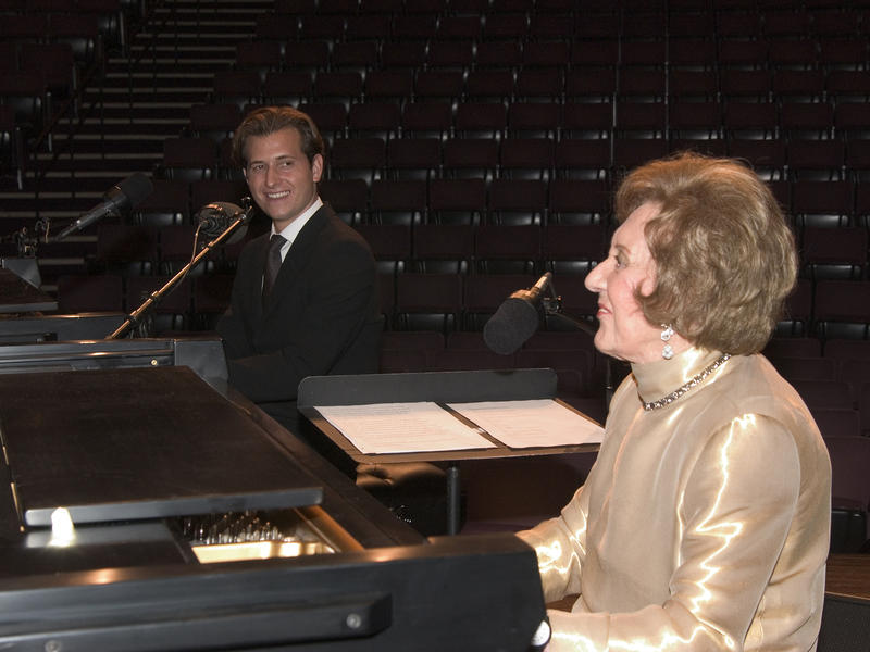 Marian McPartland and Peter Cincotti, Washington, D.C., 2004