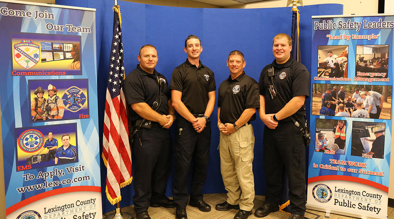 Members of Lexington County Public Safety and EMS. From left to right: Michael Collado, Micah Norman, David Kerr, and Rollie Reynolds.