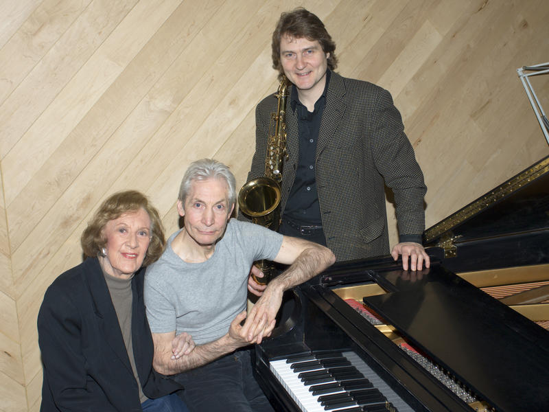 Marian McPartland with Charlie Watts (drums) and Tim Ries (saxophone), New York, 2006
