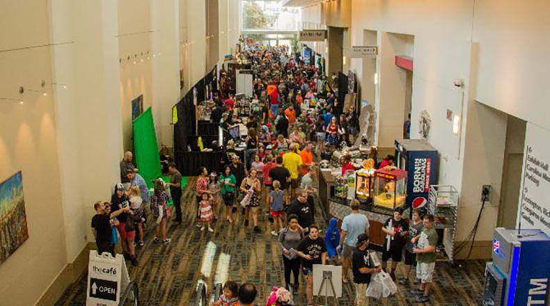 Crowds gather at the Columbia Convention Center for a previous Soda City Comic Con.