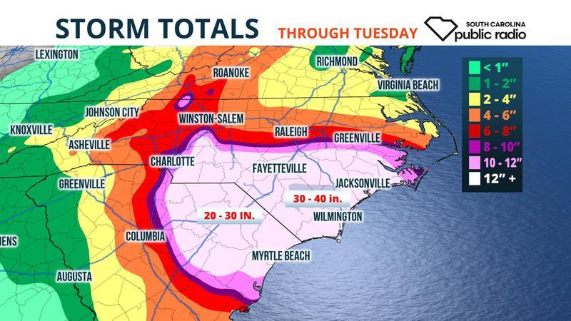 Rain forecast map.