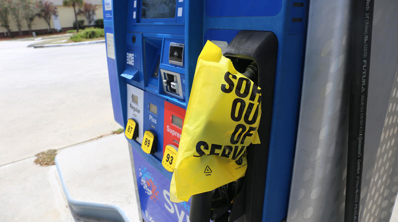 Charleston area gas station runs out of fuel