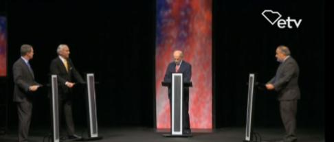 Gubernatorial candidates meet for first debate.
