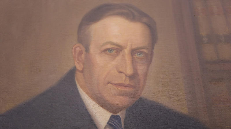 A portrait of Judge J. Waities Waring hangs in the courthouse that bears his name.