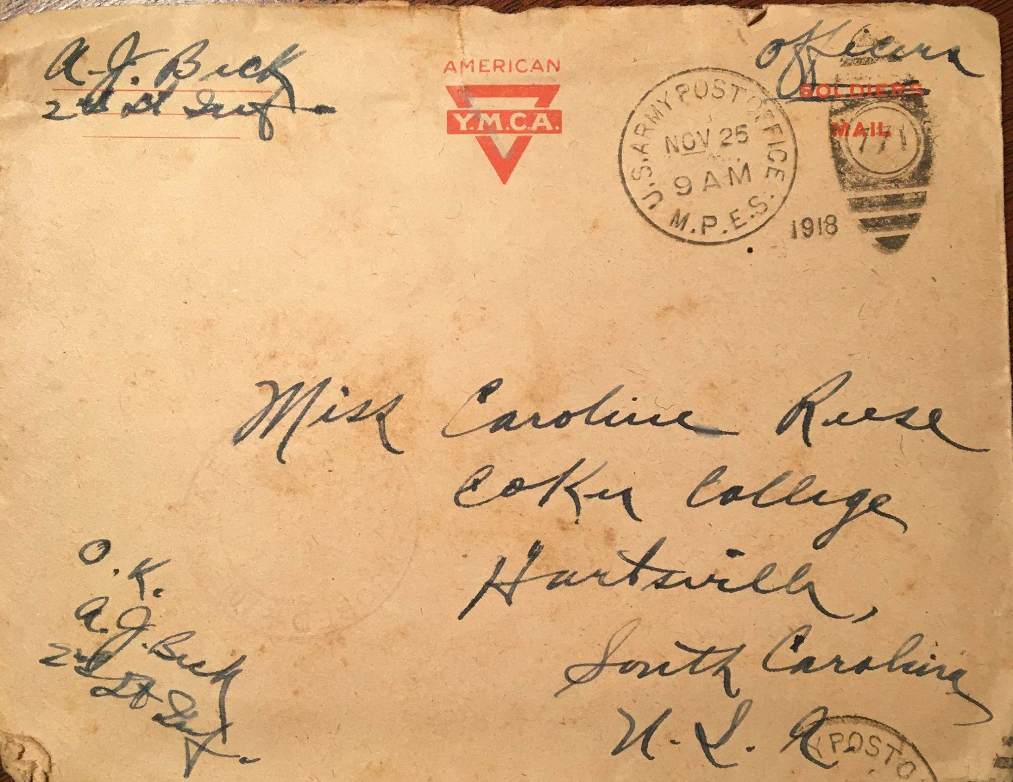world war one letter Letters from the front line: soldier dad's touching notes to son at home are   victoria cross given to one of world war i's luckiest soldiers who.